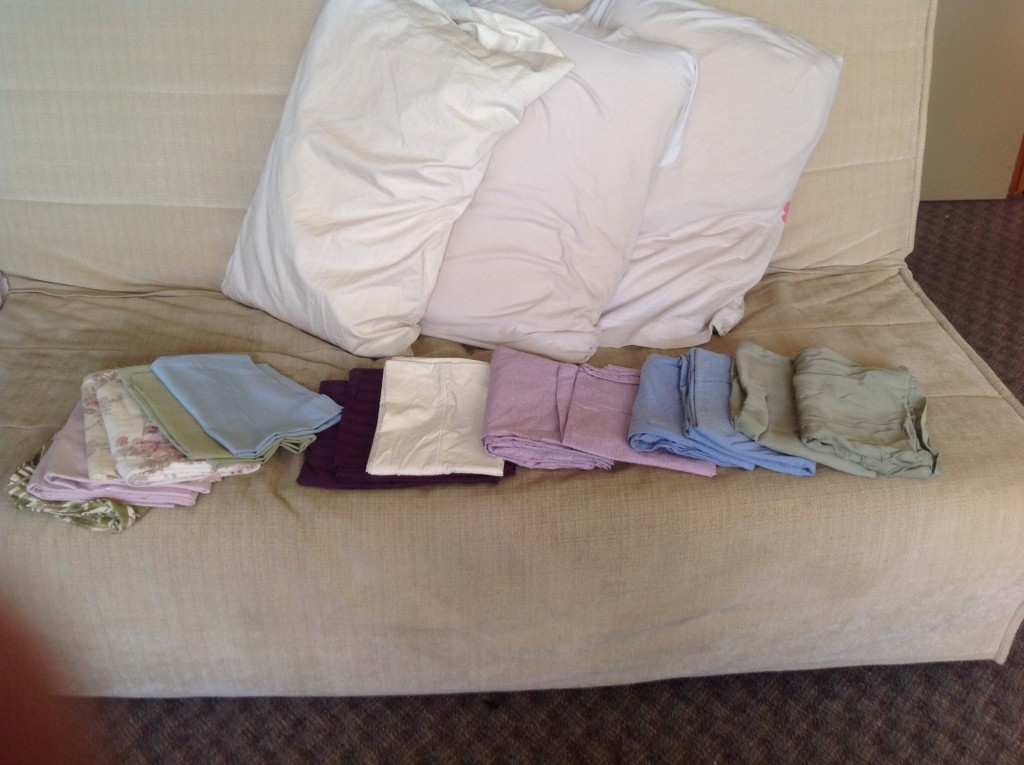 8 pairs of pillowcases and three random singles.
