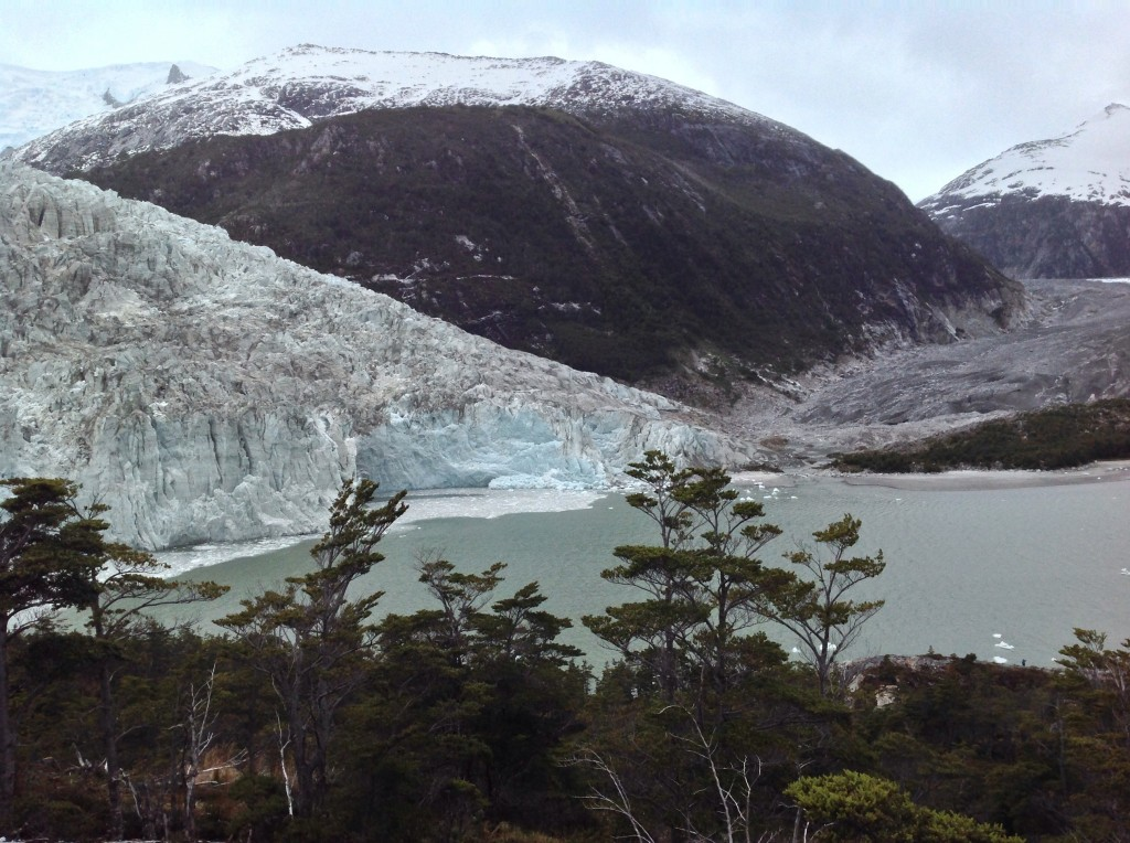 A view of Pia Glacier from the lookout point.