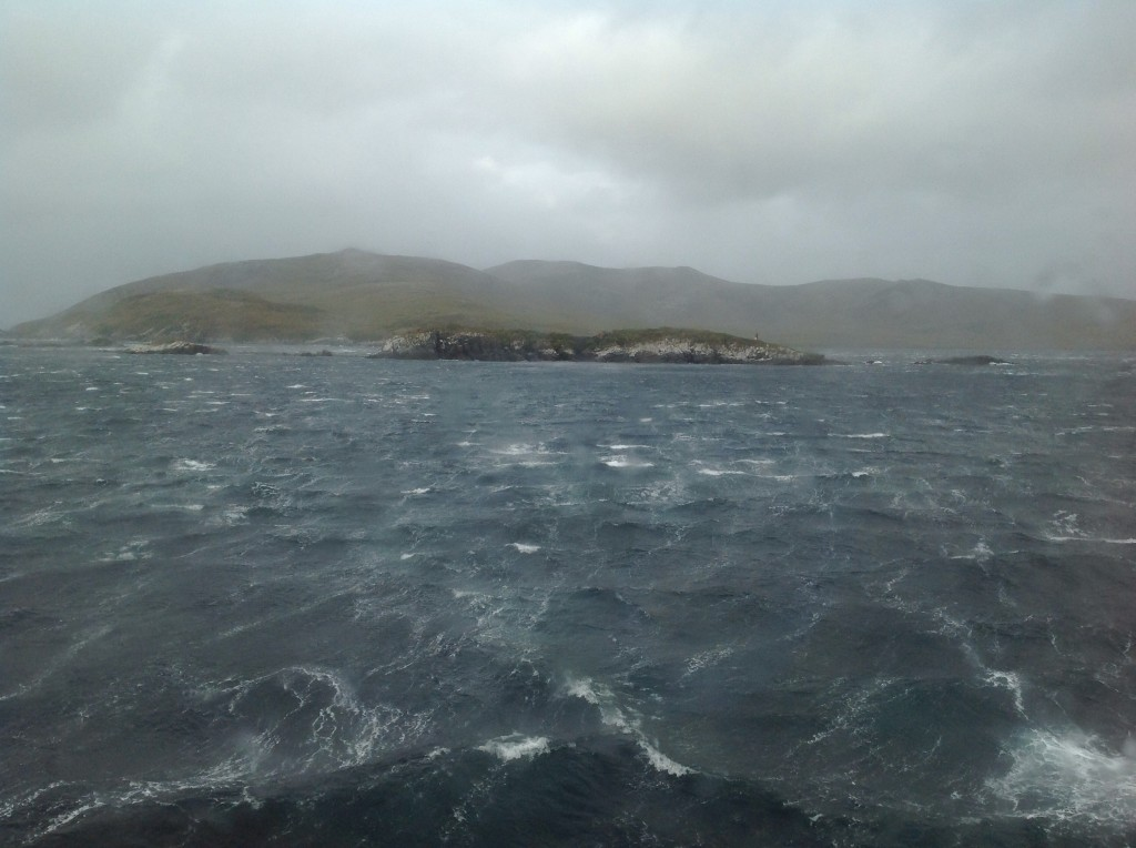 Approaching Cape Horn in increasingly turbulent conditions.