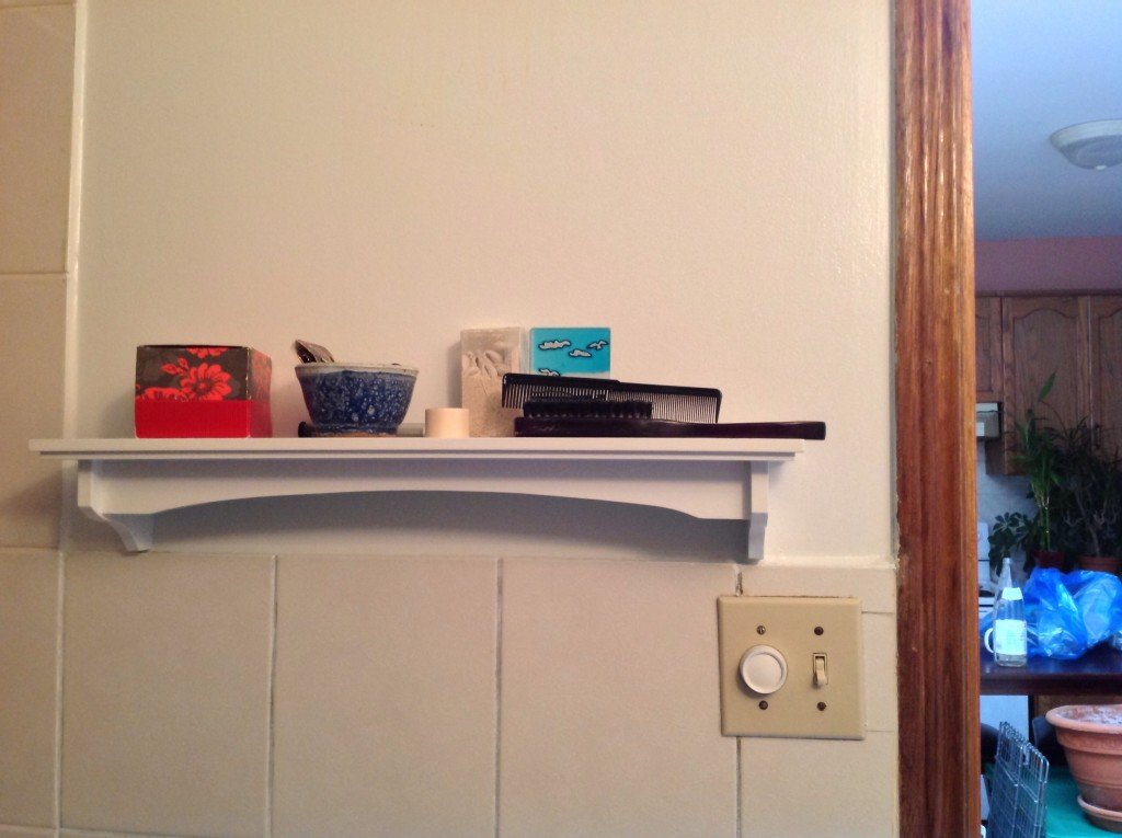 One lonely shelf discovered unpacked minutes before the movers arrived!